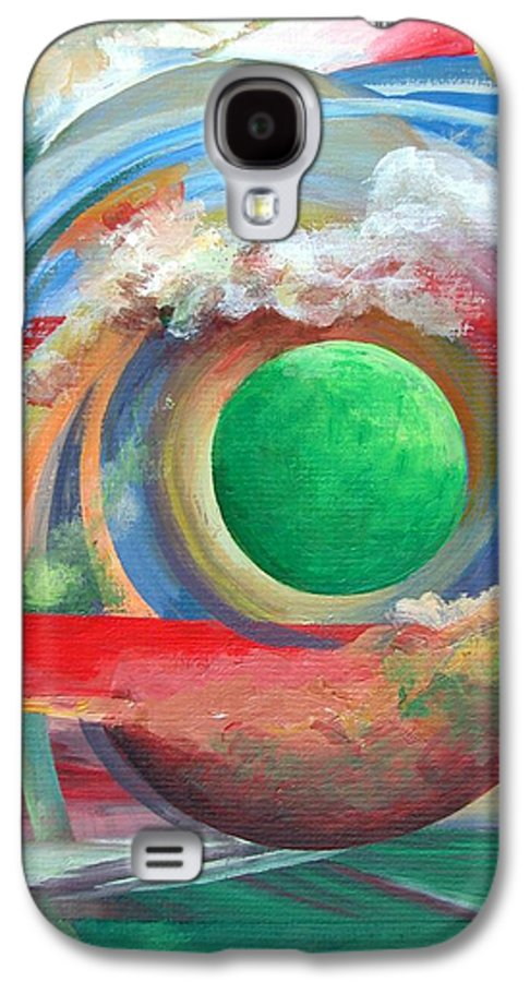 Abstract Galaxy S4 Case featuring the painting Arc by Muriel Dolemieux