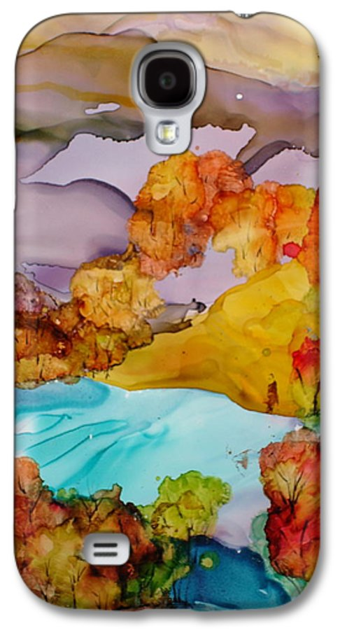 Fall Galaxy S4 Case featuring the mixed media Arcadia by Susan Kubes