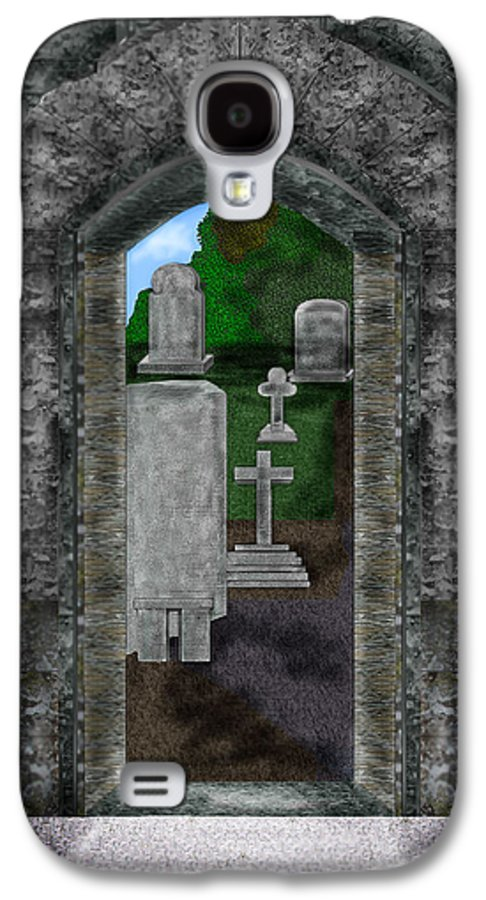 Digital Landscape Galaxy S4 Case featuring the painting Arches And Cross In Ireland by Anne Norskog