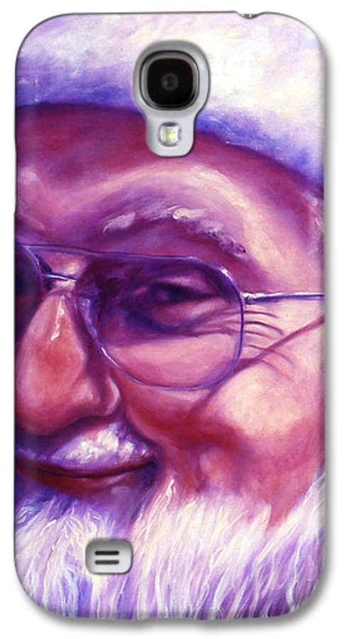 Portrait Galaxy S4 Case featuring the painting Are You Sure You Have Been Nice by Shannon Grissom