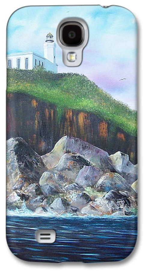 Arecibo Lighthouse Galaxy S4 Case featuring the painting Arecibo Lighthouse by Tony Rodriguez