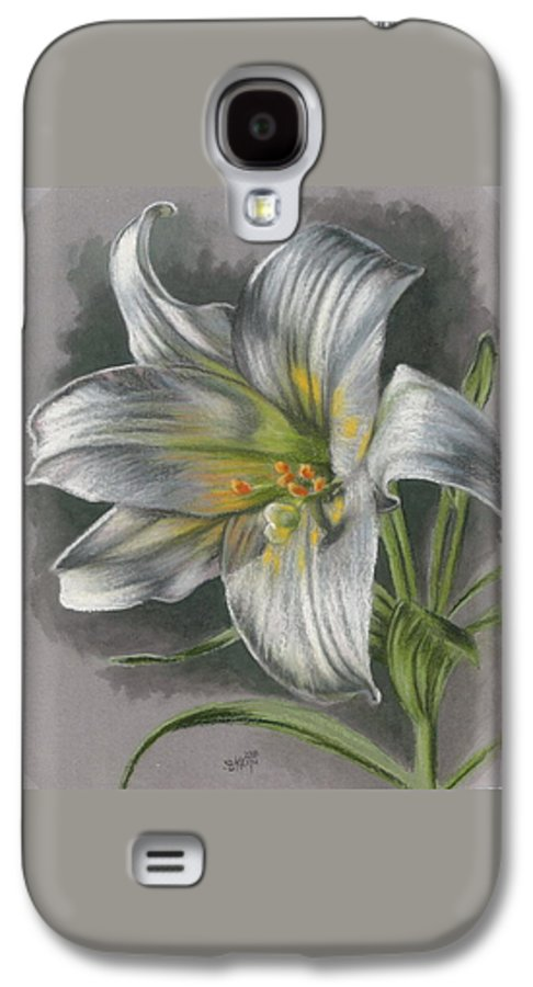 Easter Lily Galaxy S4 Case featuring the mixed media Arise by Barbara Keith