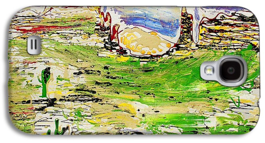 Cactus Galaxy S4 Case featuring the painting Arizona Skies by J R Seymour