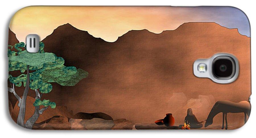 Arizona Galaxy S4 Case featuring the digital art Arizona Sky by Arline Wagner