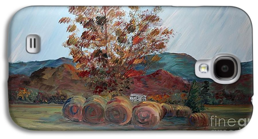Autumn Galaxy S4 Case featuring the painting Arkansas Autumn by Nadine Rippelmeyer