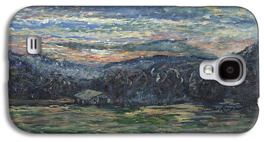Impressionism Galaxy S4 Case featuring the painting Arkansas Sunrise by Nadine Rippelmeyer