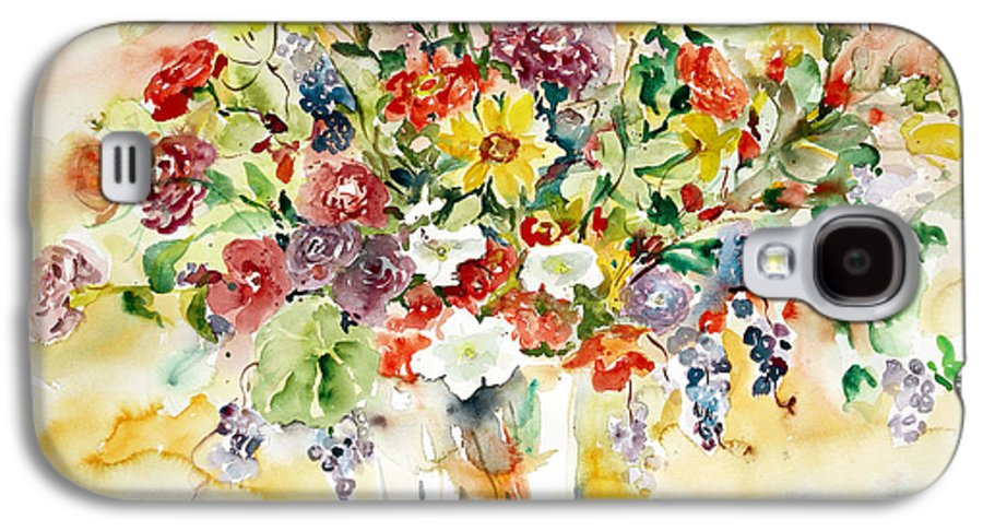 Watercolor Galaxy S4 Case featuring the painting Arrangement IIi by Alexandra Maria Ethlyn Cheshire