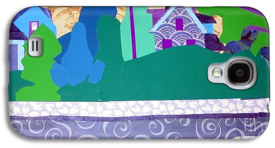 Landscape Galaxy S4 Case featuring the mixed media Art Colony by Debra Bretton Robinson