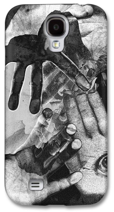 Hands Galaxy S4 Case featuring the photograph Artist's Hands by Nancy Mueller