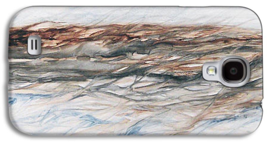 Above Air Artist As Below Blue Brown Darkest Darkestartist Earth Ground Painting Water Watercolor Galaxy S4 Case featuring the painting As Above Below by Darkest Artist