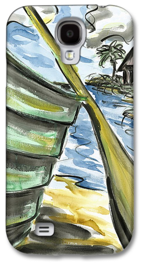 Seascape Galaxy S4 Case featuring the painting Ashore by Robert Joyner