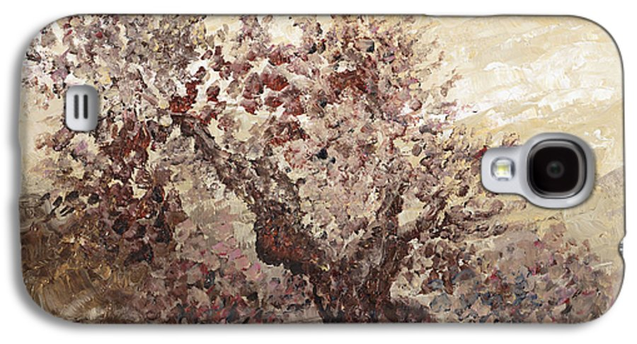 Landscape Galaxy S4 Case featuring the painting Asian Mist by Nadine Rippelmeyer