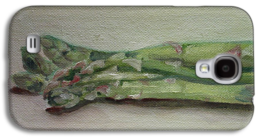 Food Galaxy S4 Case featuring the painting Asparagus by Sarah Lynch