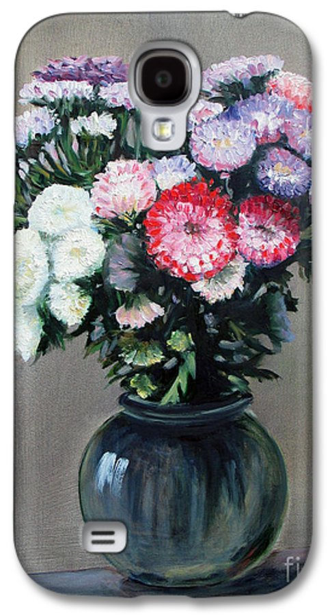 Flowers Galaxy S4 Case featuring the painting Asters by Paul Walsh