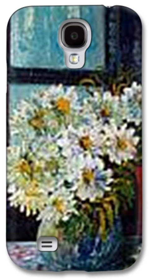 By The Window Galaxy S4 Case featuring the painting At Home by Carol P Kingsley