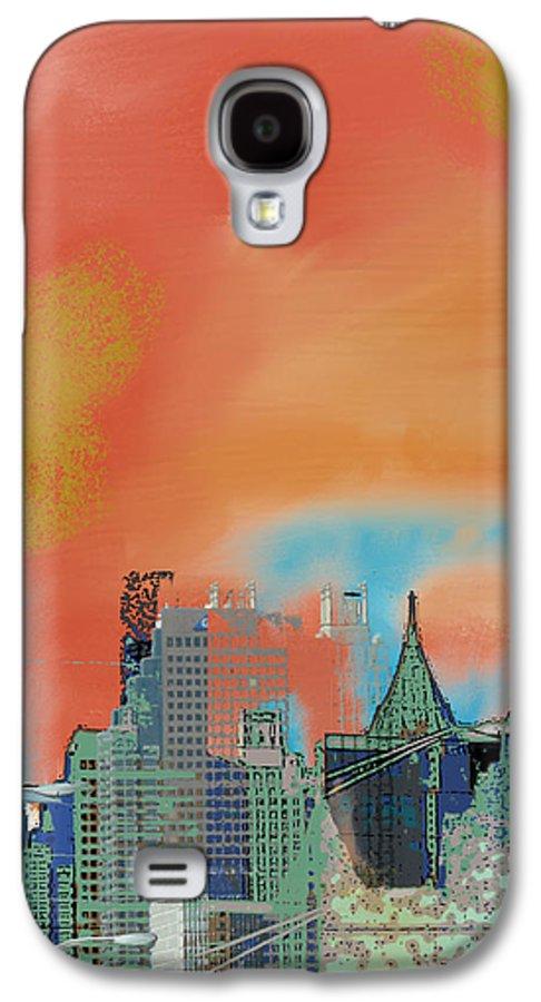 Atlanta Galaxy S4 Case featuring the mixed media Atlanta Abstract After The Tornado by Ann Tracy