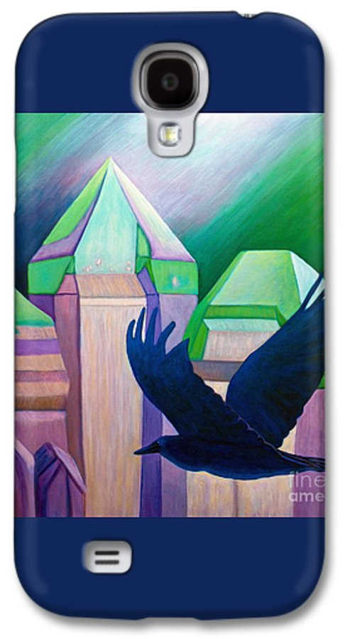 Crystals Galaxy S4 Case featuring the painting Atlantis by Brian Commerford