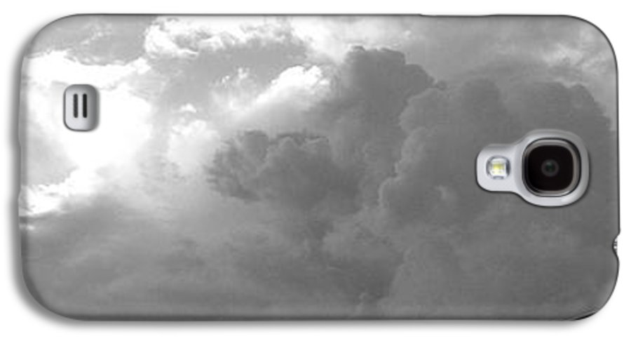 Black And White Galaxy S4 Case featuring the photograph Atmospheric Barcode 19 7 2008 16 Version Bw by Donald Burroughs