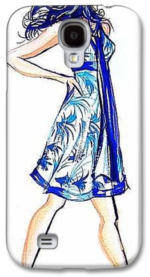 Girl With Attitude Galaxy S4 Case featuring the painting Attitude by Laura Rispoli
