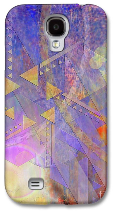 Aurora Aperture Galaxy S4 Case featuring the digital art Aurora Aperture by John Beck