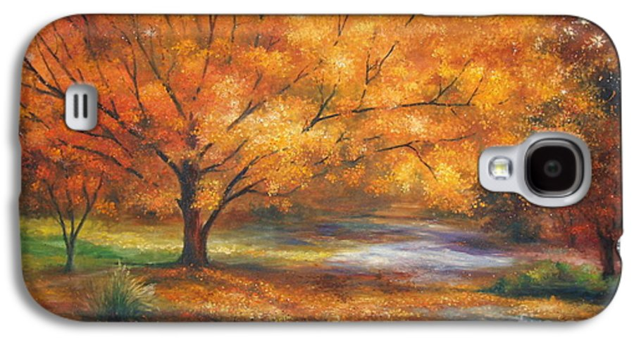 Fall Galaxy S4 Case featuring the painting Autumn by Ann Cockerill