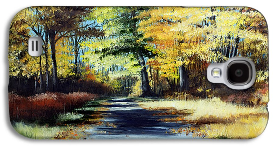 Landscape Galaxy S4 Case featuring the painting Autumn Colors by Paul Walsh