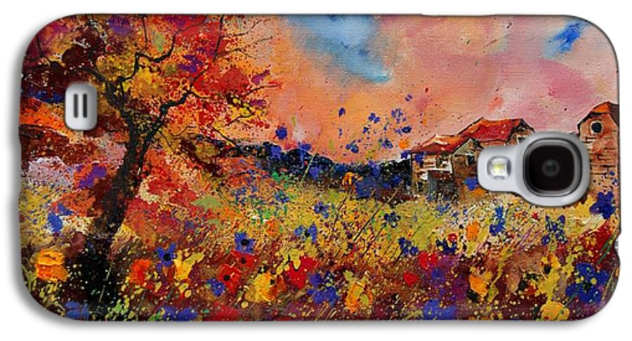 Poppies Galaxy S4 Case featuring the painting Autumn Colors by Pol Ledent
