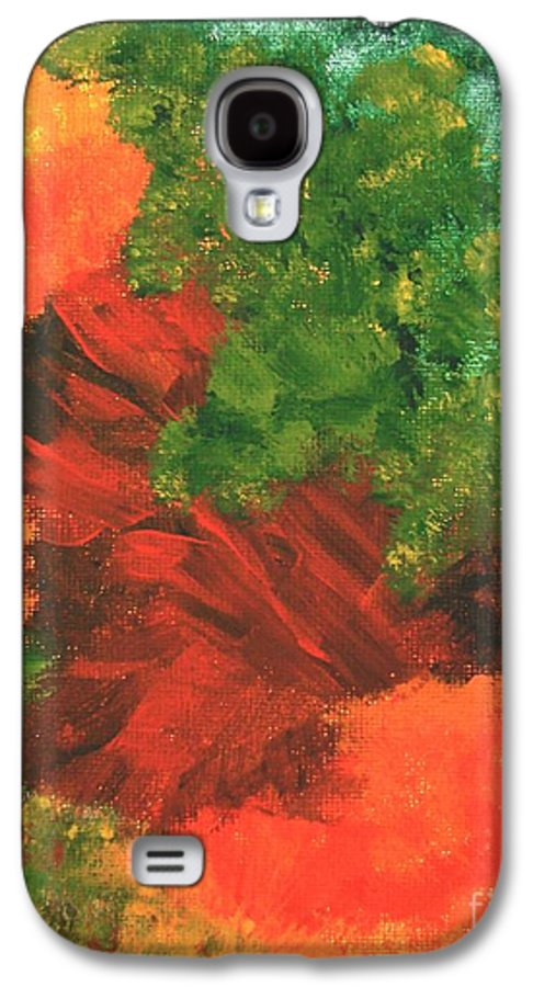 Abstract Galaxy S4 Case featuring the painting Autumn Equinox by Itaya Lightbourne