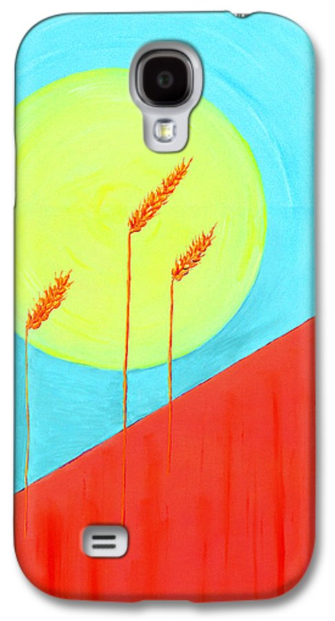 Landscape Galaxy S4 Case featuring the painting Autumn Harvest by J R Seymour