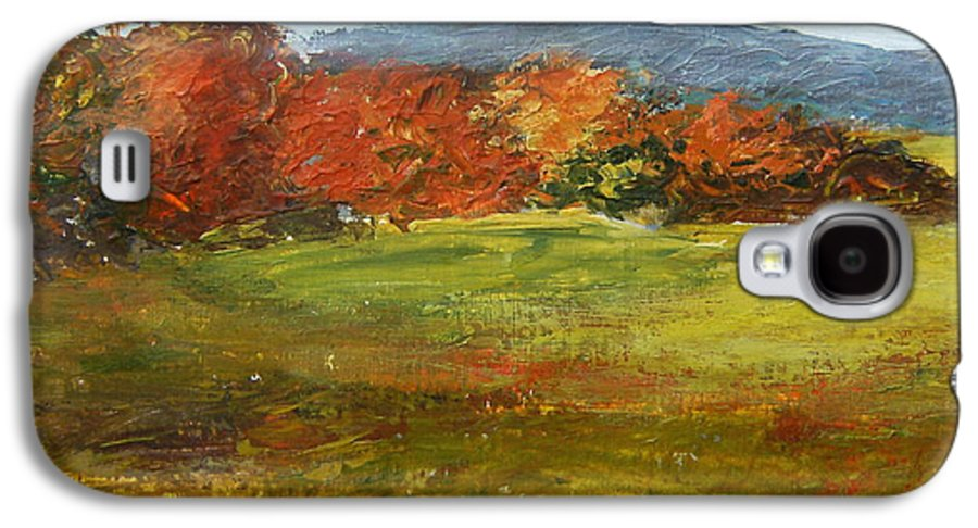 Landscape Galaxy S4 Case featuring the painting Autumn Is Here by Tami Booher