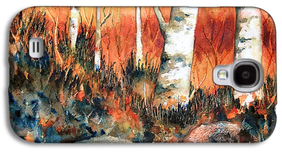 Landscape Galaxy S4 Case featuring the painting Autumn by Karen Stark