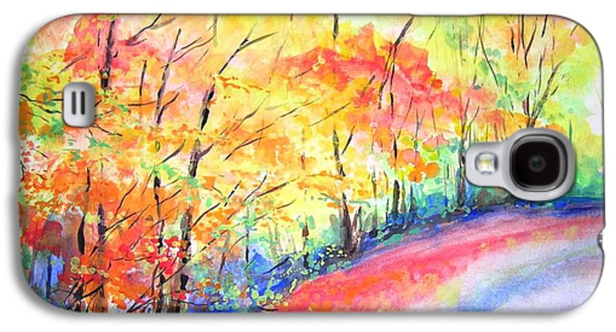 Autumn Galaxy S4 Case featuring the painting Autumn Lane Iv by Lizzy Forrester