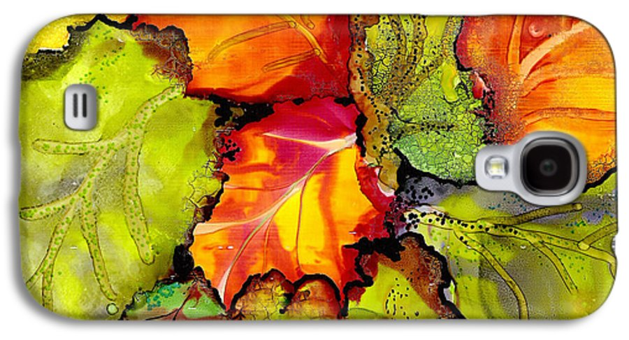 Leaves Galaxy S4 Case featuring the painting Autumn Leaves by Susan Kubes