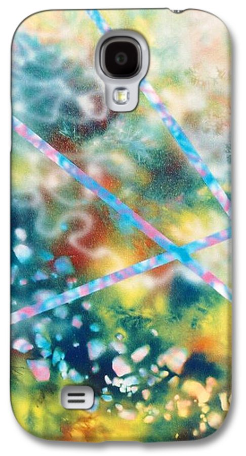 Abstract Galaxy S4 Case featuring the painting Autumn by Micah Guenther
