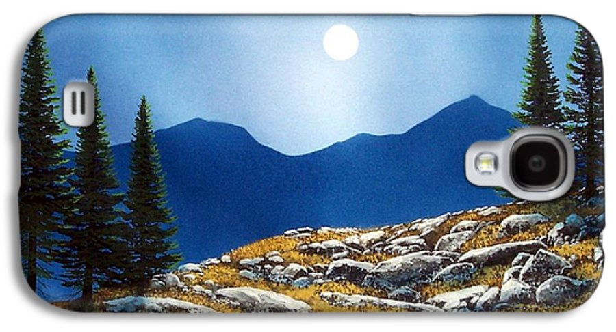 Landscape Galaxy S4 Case featuring the painting Autumn Moon by Frank Wilson