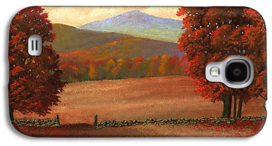 Autumn Galaxy S4 Case featuring the painting Autumn Pastures by Frank Wilson
