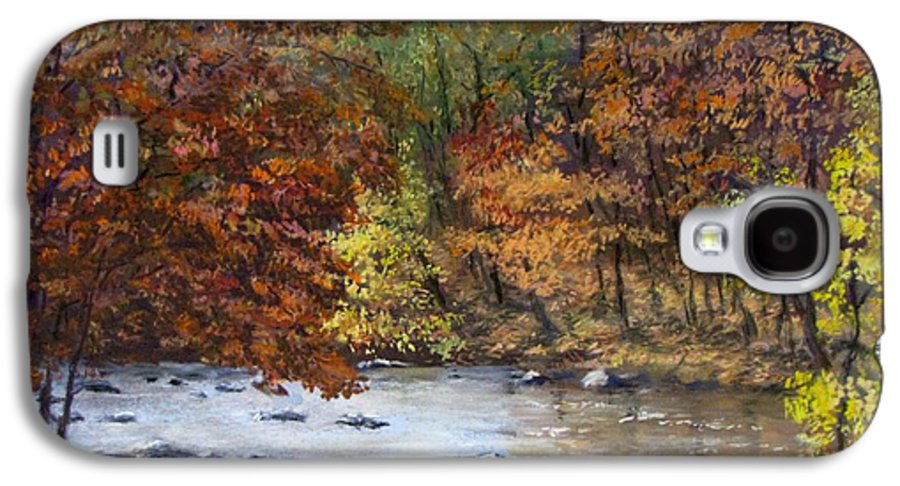 Autumn Galaxy S4 Case featuring the painting Autumn River by Jack Skinner