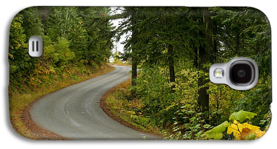 Road Galaxy S4 Case featuring the photograph Autumn Road by Idaho Scenic Images Linda Lantzy