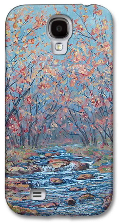 Landscape Galaxy S4 Case featuring the painting Autumn Serenity by Leonard Holland