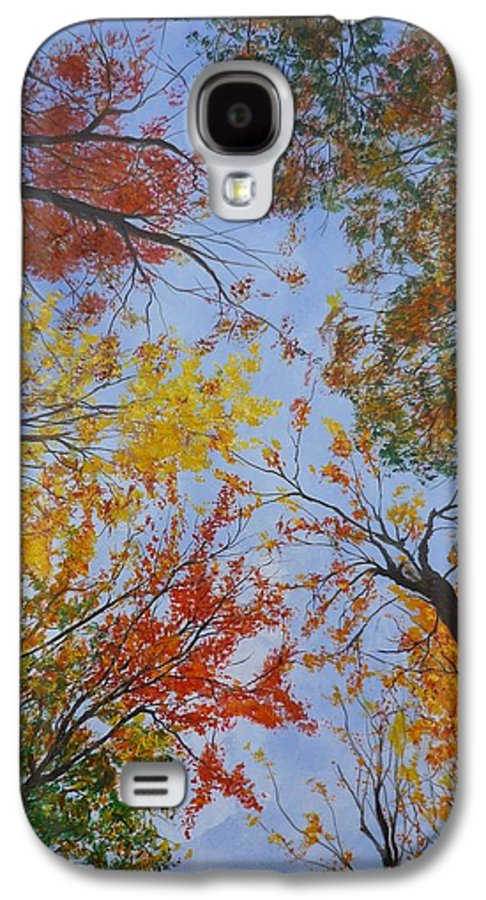 Tree Galaxy S4 Case featuring the painting Autumn Sky by Lizzy Forrester
