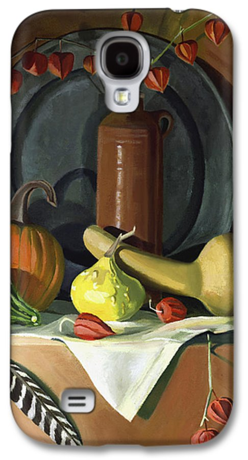 Still Life Galaxy S4 Case featuring the painting Autumn Still Life by Nancy Griswold