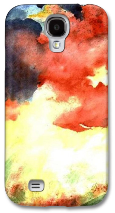 Autumn Galaxy S4 Case featuring the painting Autumn Storm by Andrew Gillette