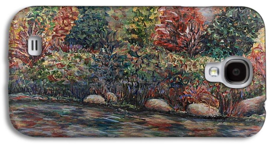 Autumn Galaxy S4 Case featuring the painting Autumn Stream by Nadine Rippelmeyer