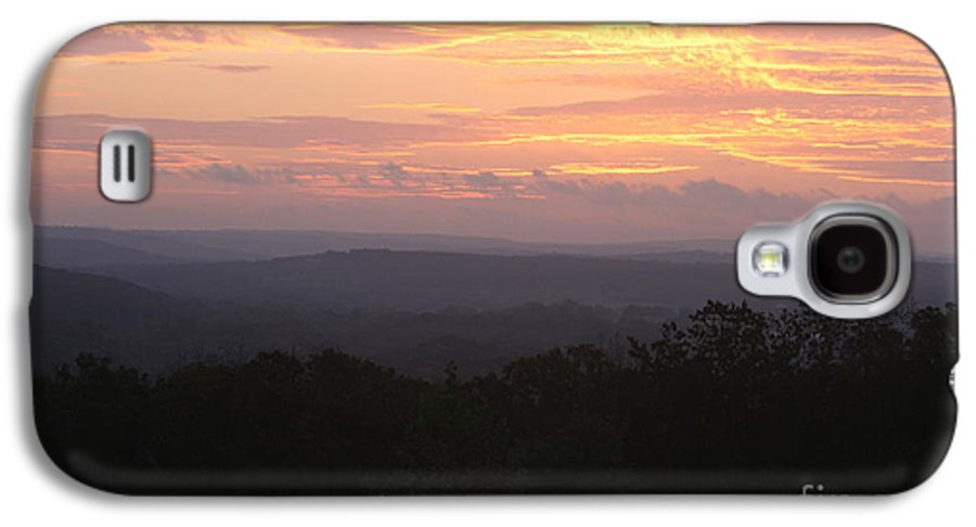 Sunrise Galaxy S4 Case featuring the photograph Autumn Sunrise Over The Ozarks by Nadine Rippelmeyer