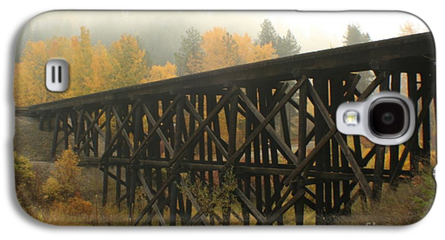 Trestle Galaxy S4 Case featuring the photograph Autumn Trestle by Idaho Scenic Images Linda Lantzy
