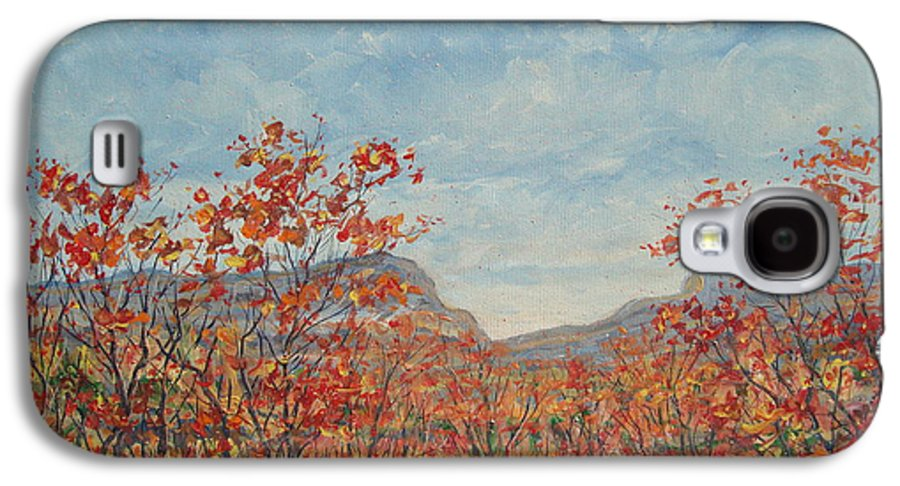 Paintings Galaxy S4 Case featuring the painting Autumn View. by Leonard Holland