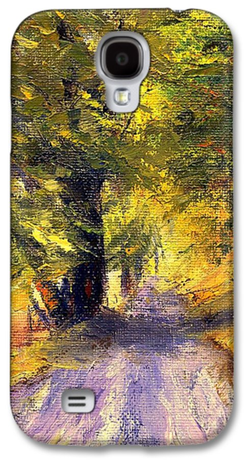 Autumn Galaxy S4 Case featuring the painting Autumn Walk by Gail Kirtz