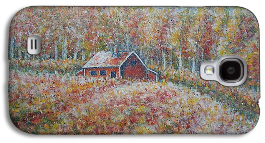 Landscape Galaxy S4 Case featuring the painting Autumn Whisper. by Natalie Holland