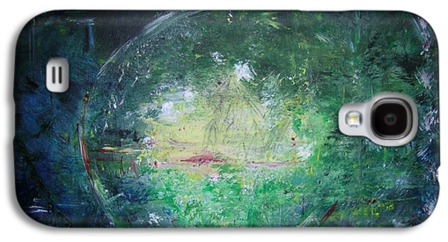 Abstract Galaxy S4 Case featuring the painting Awakening Abstract II by Lizzy Forrester