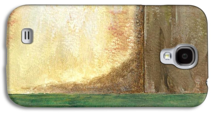 Abstract Galaxy S4 Case featuring the painting Awakening by Itaya Lightbourne